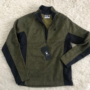 Men's Spyder Quarter zip sweater